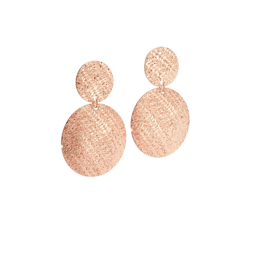 Rebecca Rose Gold Plated Double Circle R-Zero Earrings