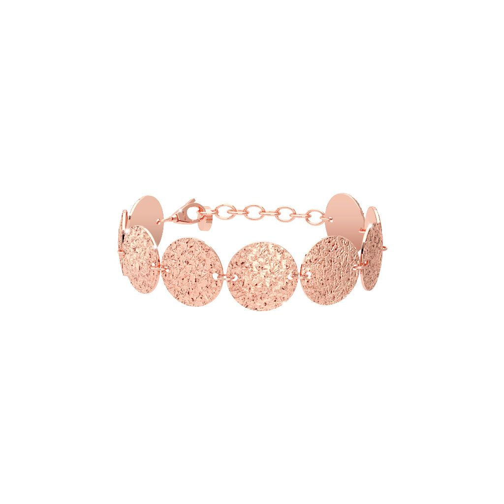 Rebecca Rose Gold Plated Circle R-Zero Bracelet