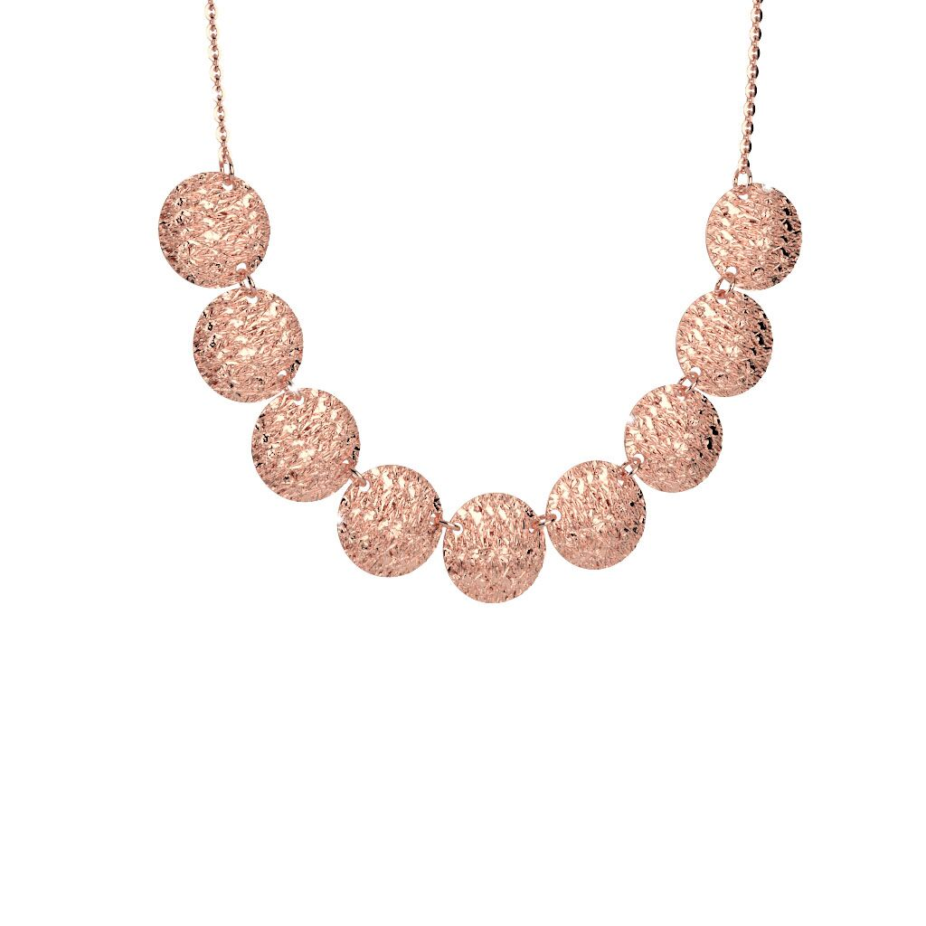 Rebecca Rose Gold Plated Circle R-Zero Necklace