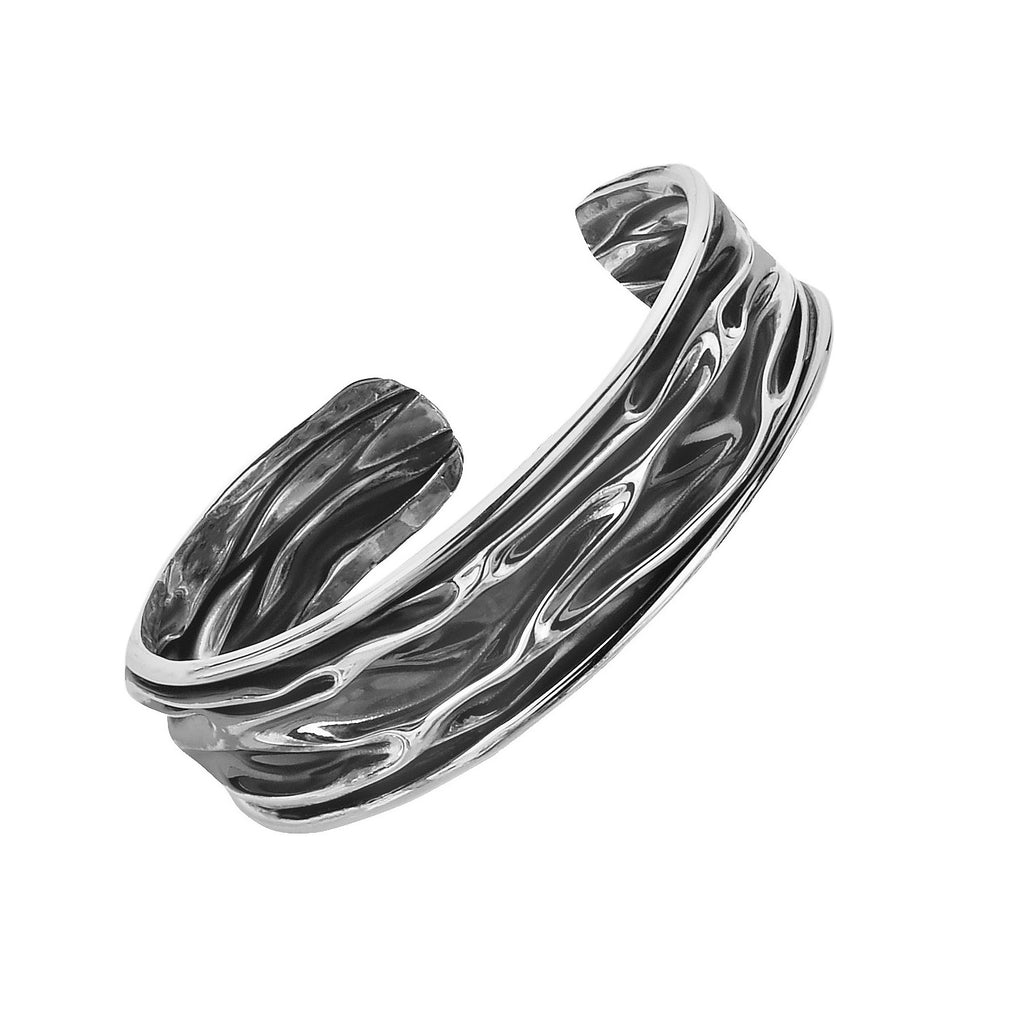 Tianguis Jackson Oxidized Silver Bangle