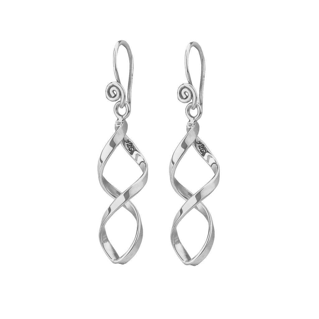 Tianguis Jackson Silver Twisted Open Drop Earrings