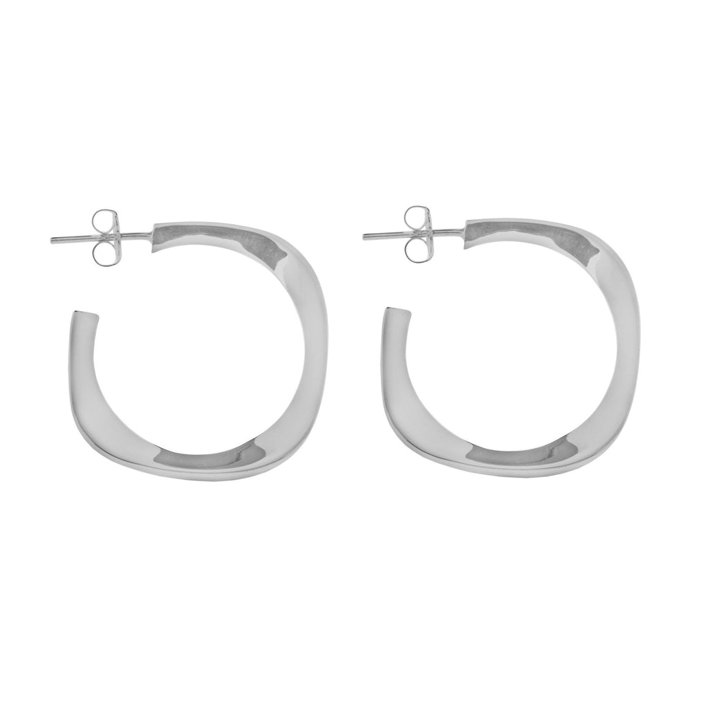 Tianguis Jackson Silver Earrings Hoop