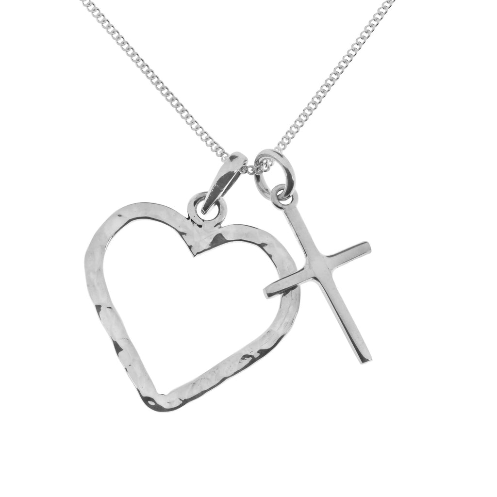 Tianguis Jackson Silver Heart with Cross Necklace