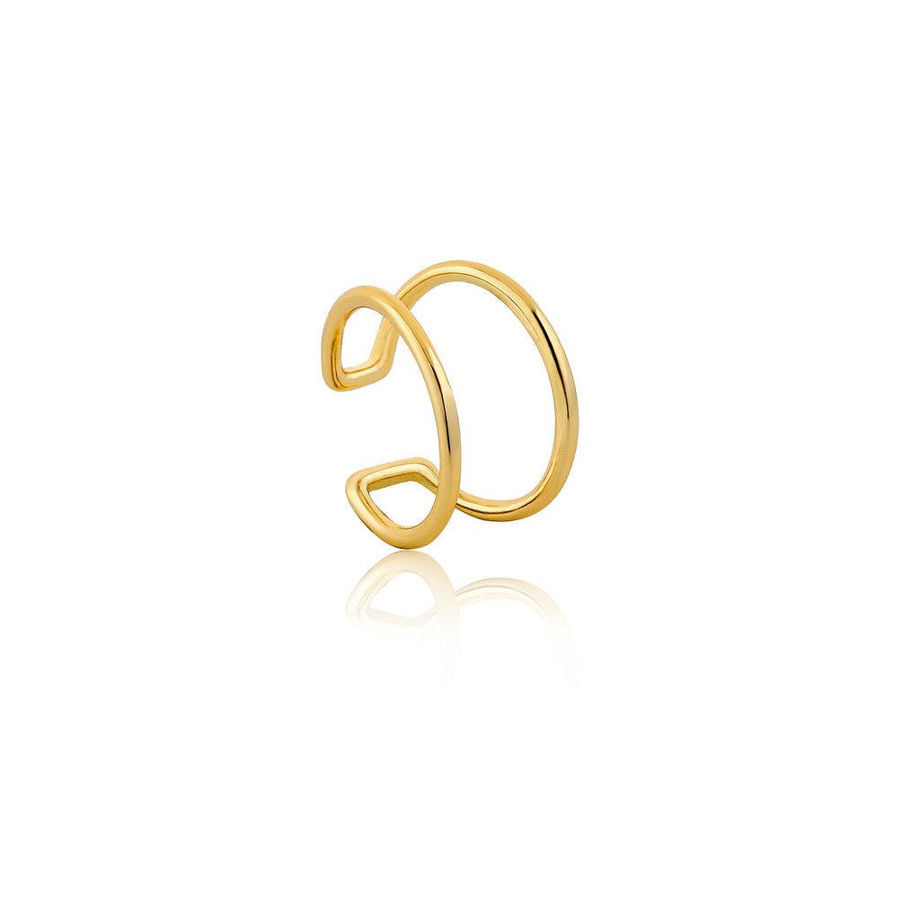 Ania Haie Modern Ear Cuff Gold Plated