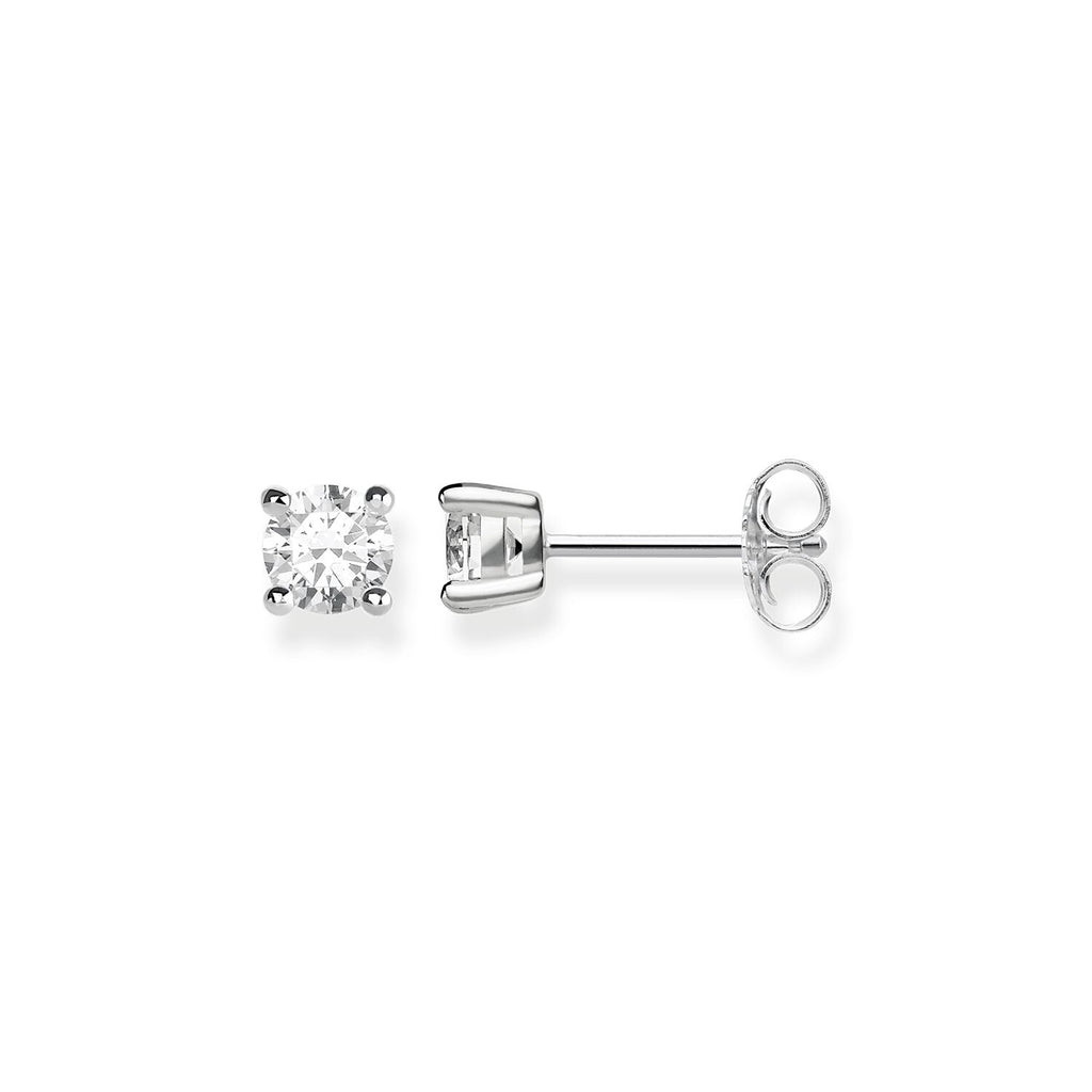 Thomas Sabo Earrings Studs white stone