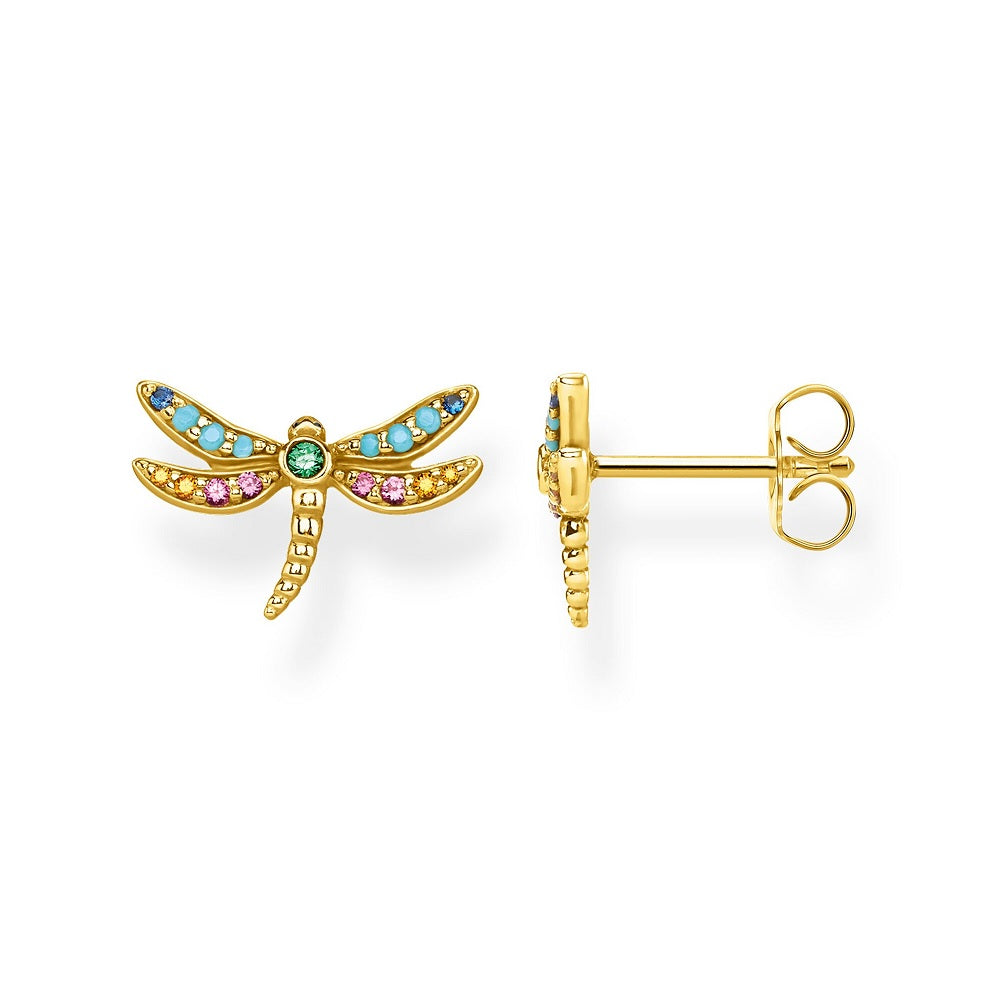 Thomas Sabo Earrings Studs Gold Dragonfly