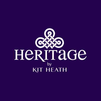Heritage by Kit Heath Celtic Knotwork with round Amethyst Necklace