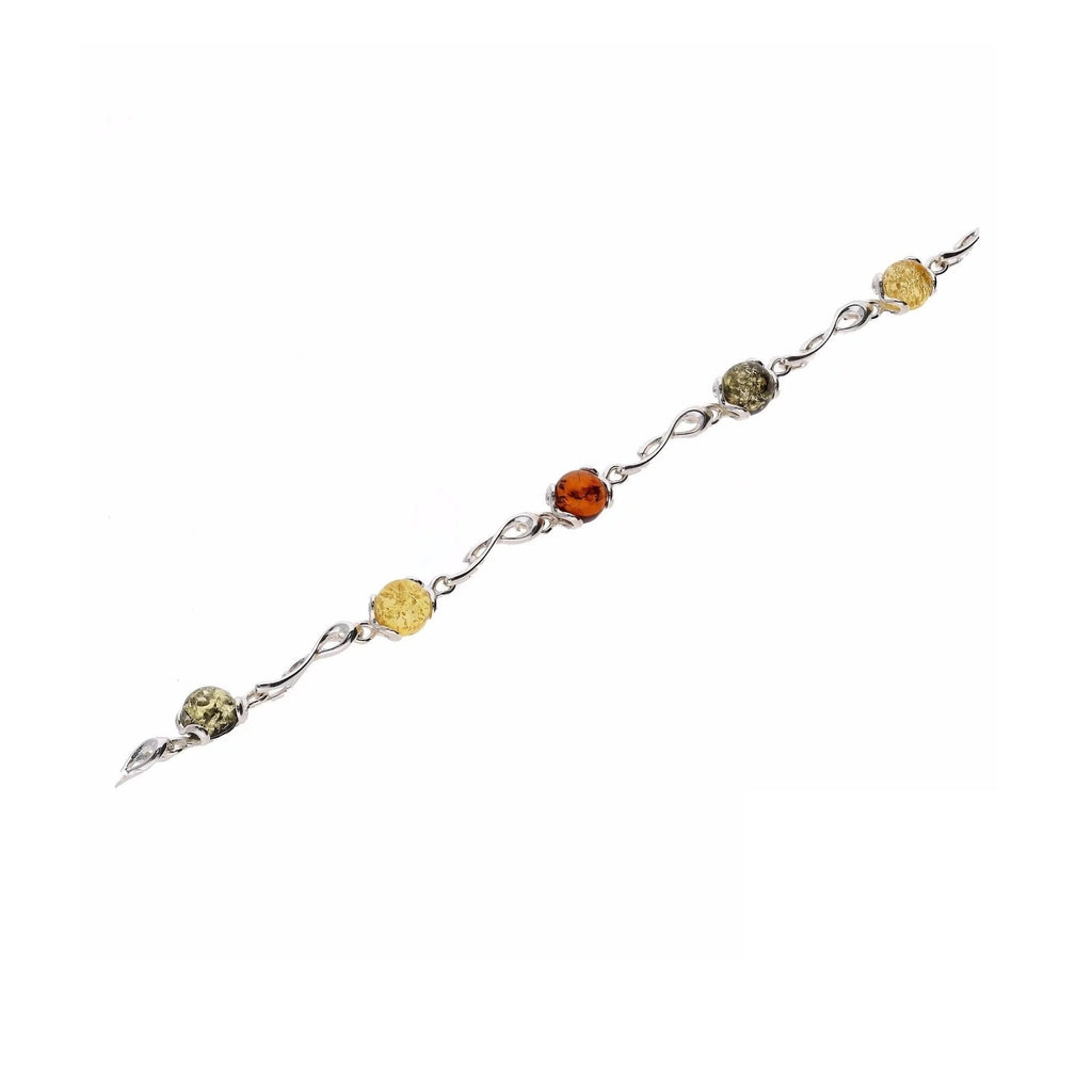 MILENA bracelet Silver and Amber Multicolor