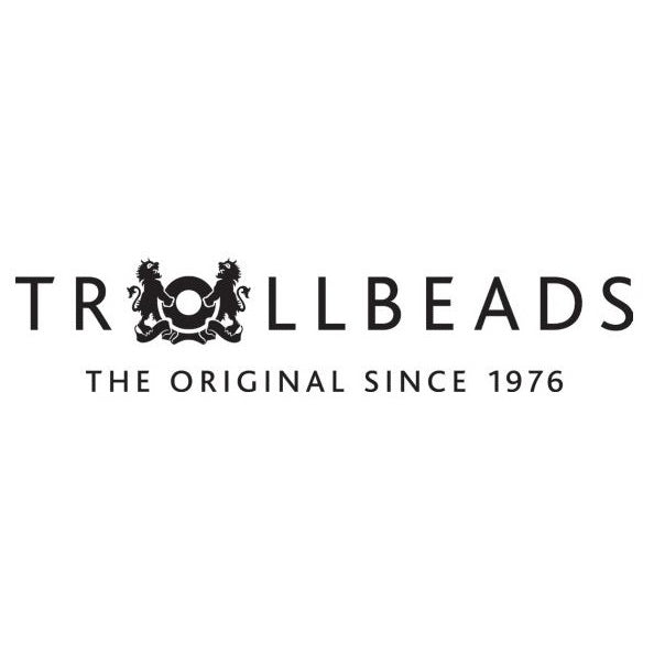 Trollbeads Charms Glass White Steel