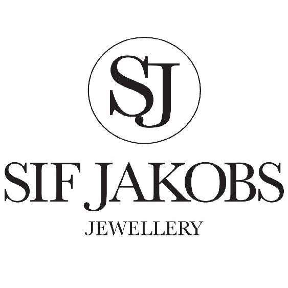 Sif Jakobs Silver Gold Plated with White CZ Princess Piccolo Round Earrings