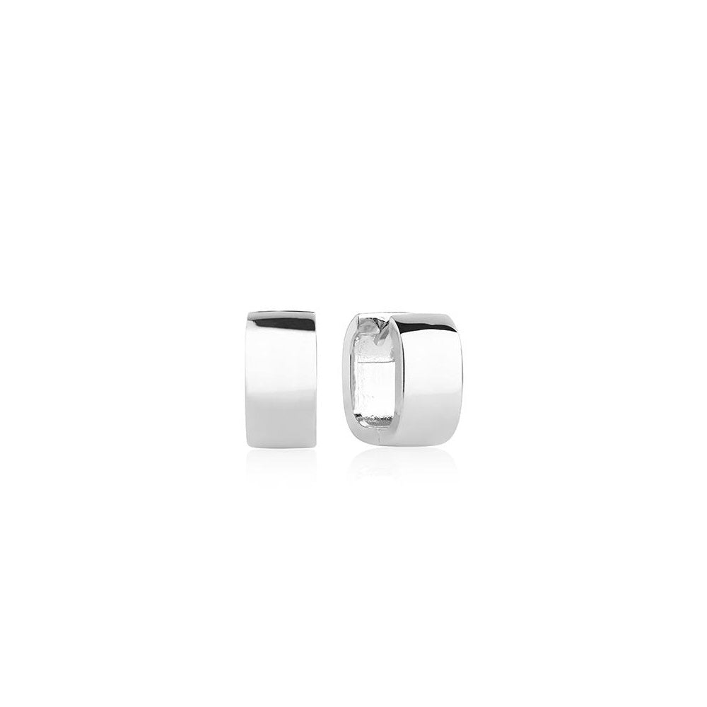 Sif Jakobs Silver Matera Pianura Hoop Earrings