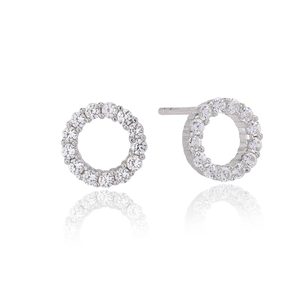 Sif Jakobs Silver and CZ Earrings Biella Uno Piccolo