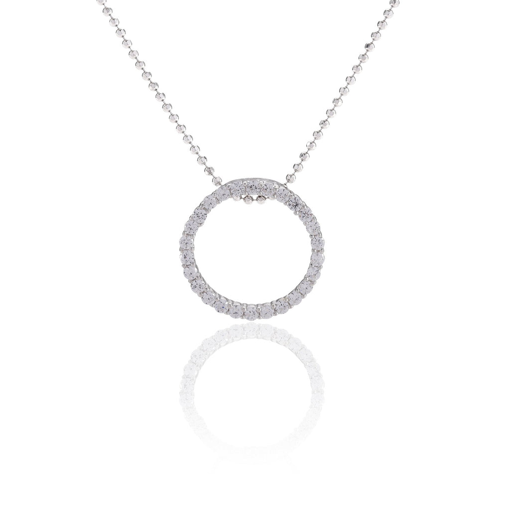 Sif Jakobs Silver and CZ Biella Necklace