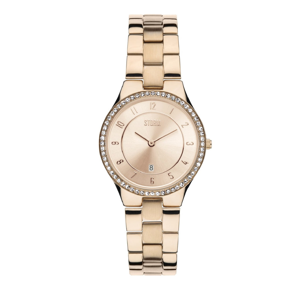 STORM Watches Slim X Crystal Rose Gold