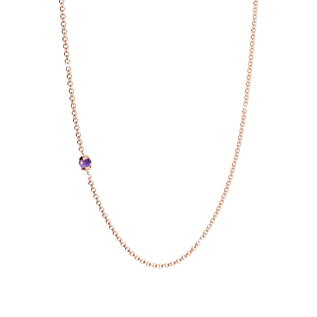 Rebecca Rose Gold Plated Hollywood purple stone Necklace