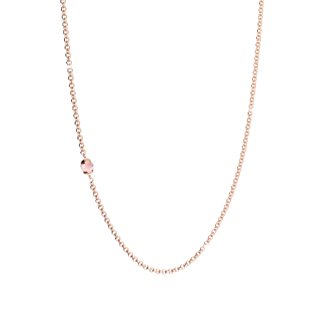 Rebecca Rose Gold Plated Hollywood pink stone Necklace