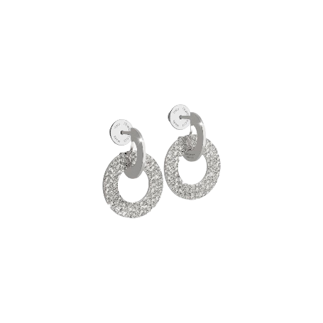 Rebecca Silver Plated R-Zero small drop Earrings