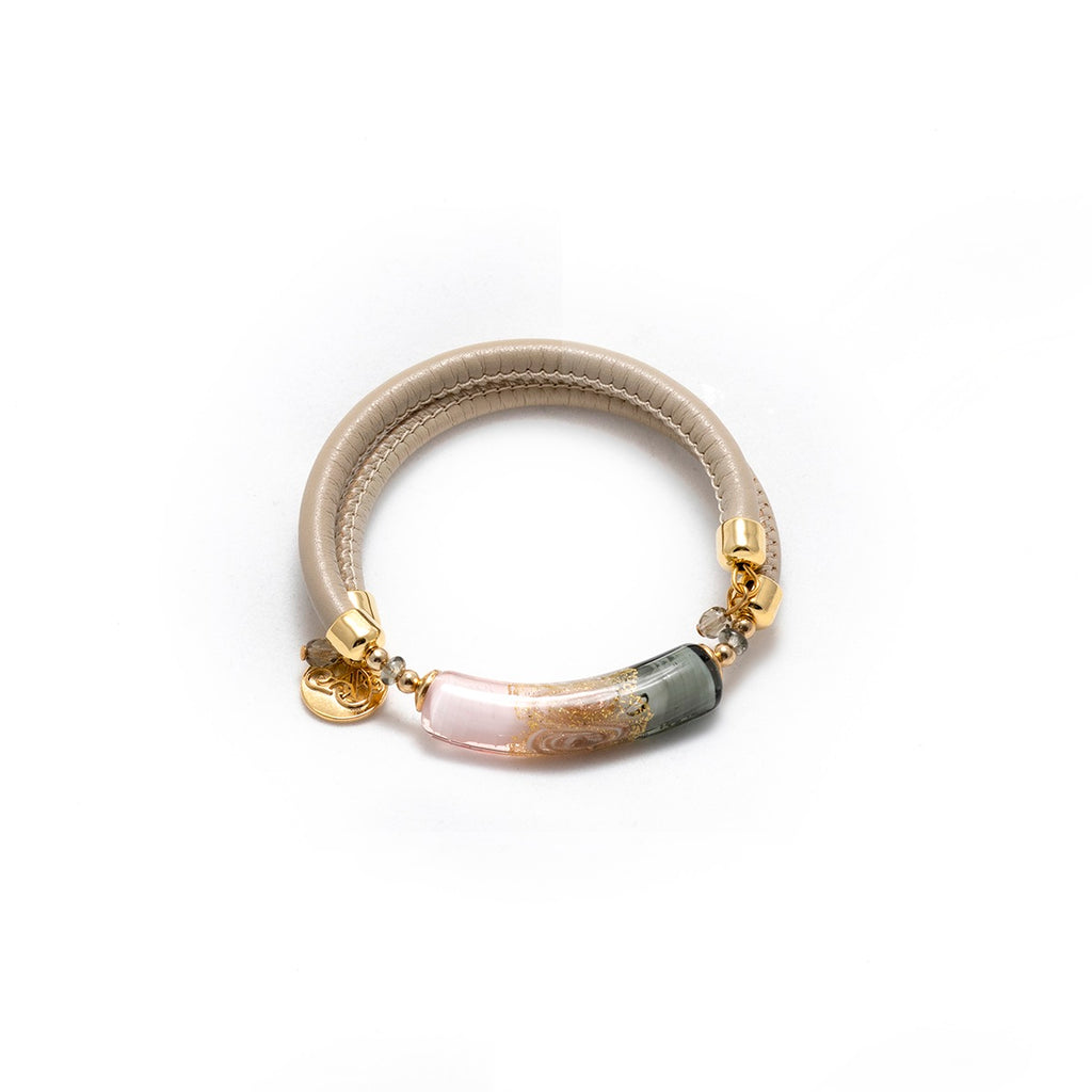 Vaccari Venezia Bracelet Pink and Grey
