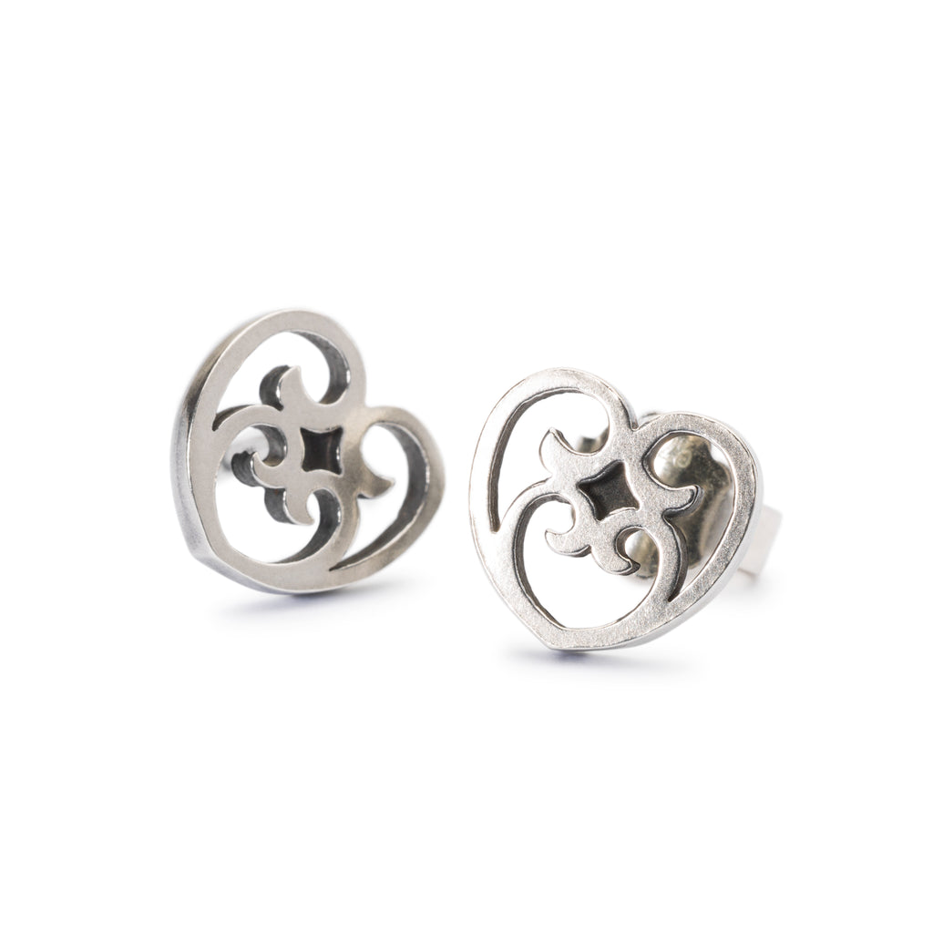 Trollbeads Silver Passion Wonder Stud Earrings