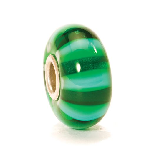 Trollbeads Charms Glass Green Stripe
