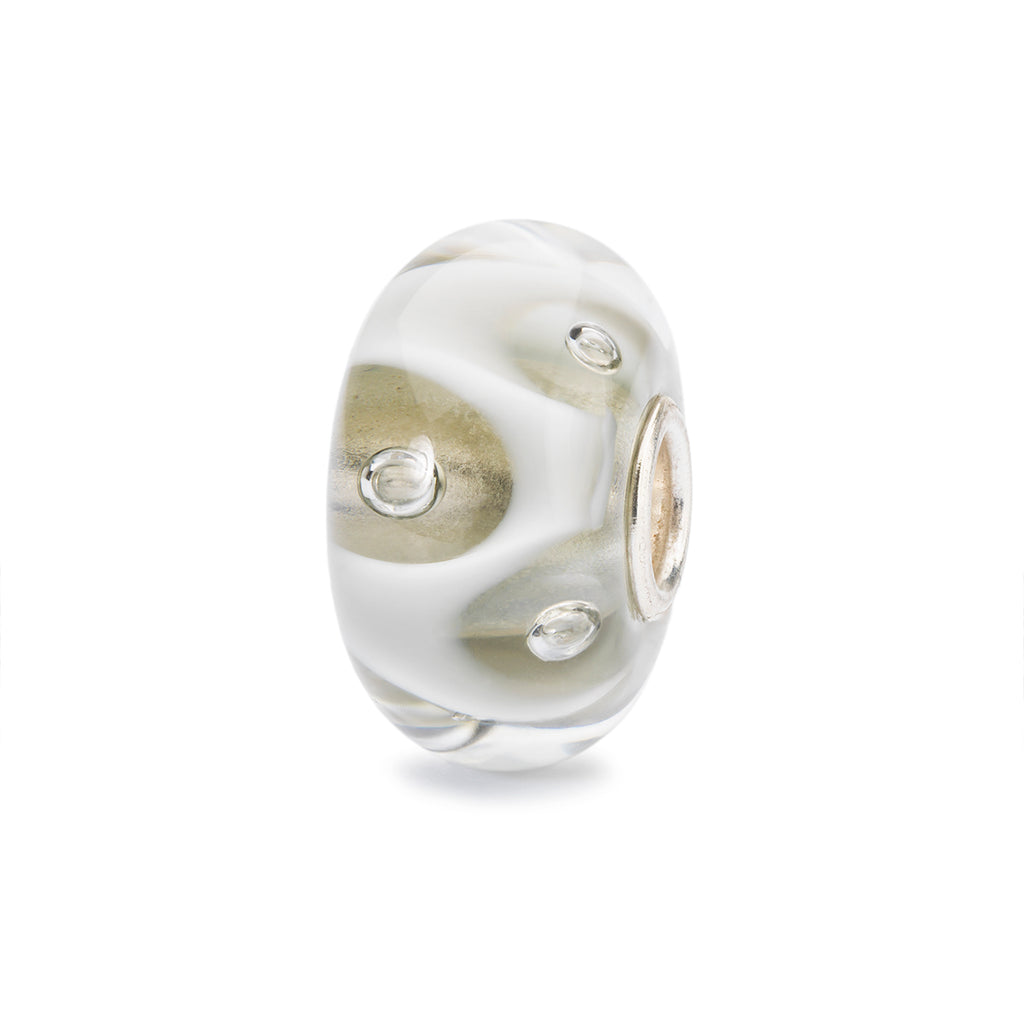 Trollbeads Charm Glass Drops of White