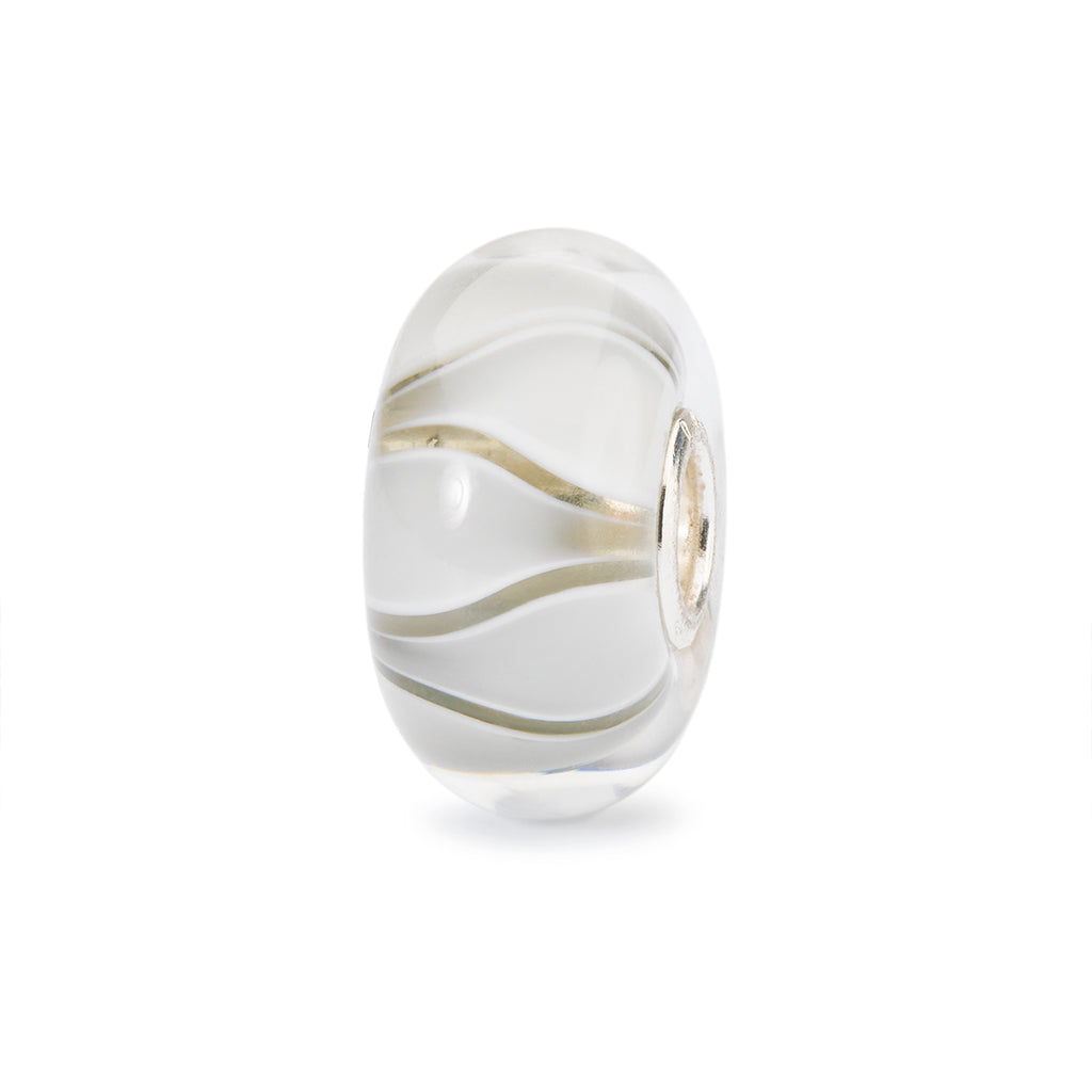 Trollbeads Charm Glass White Tulips
