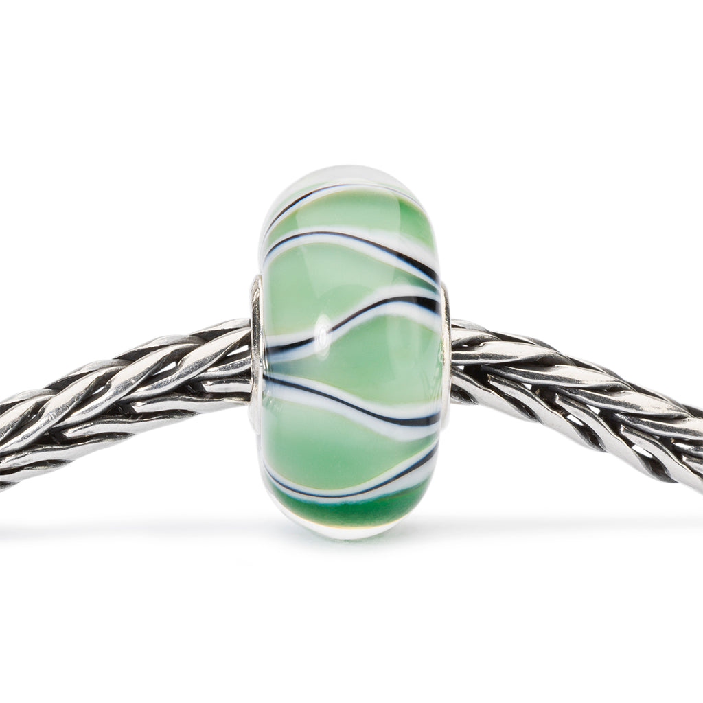Trollbeads Charm Glass Green Tulips