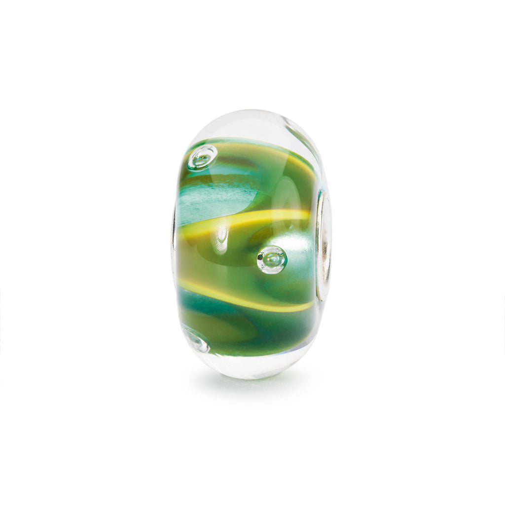 Trollbeads Charm Glass Drops of Green