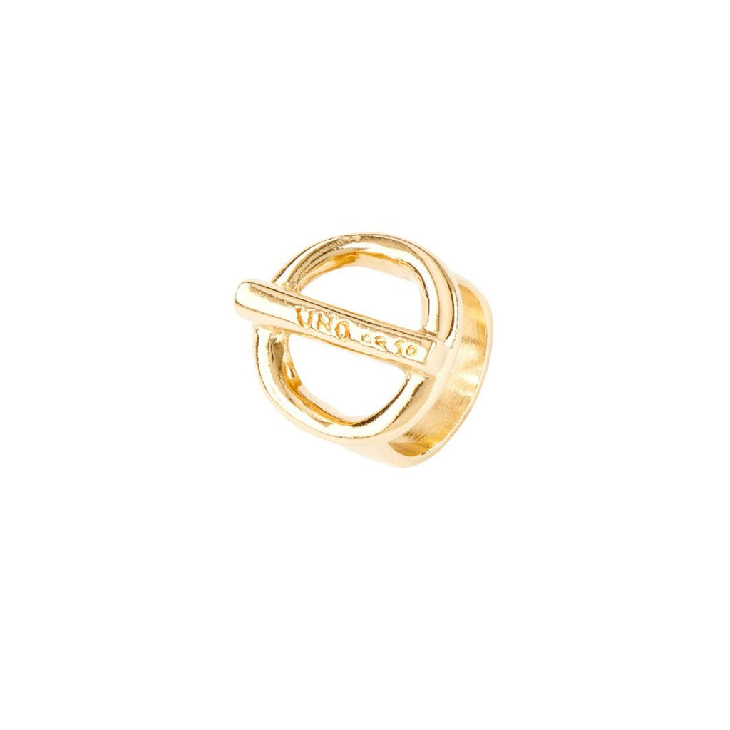 UNOde50 Ring Gold plated 'On / Off'