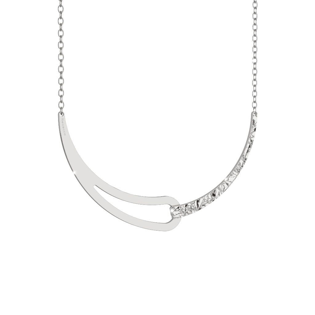 Rebecca Silver Plated Iconic V Necklace