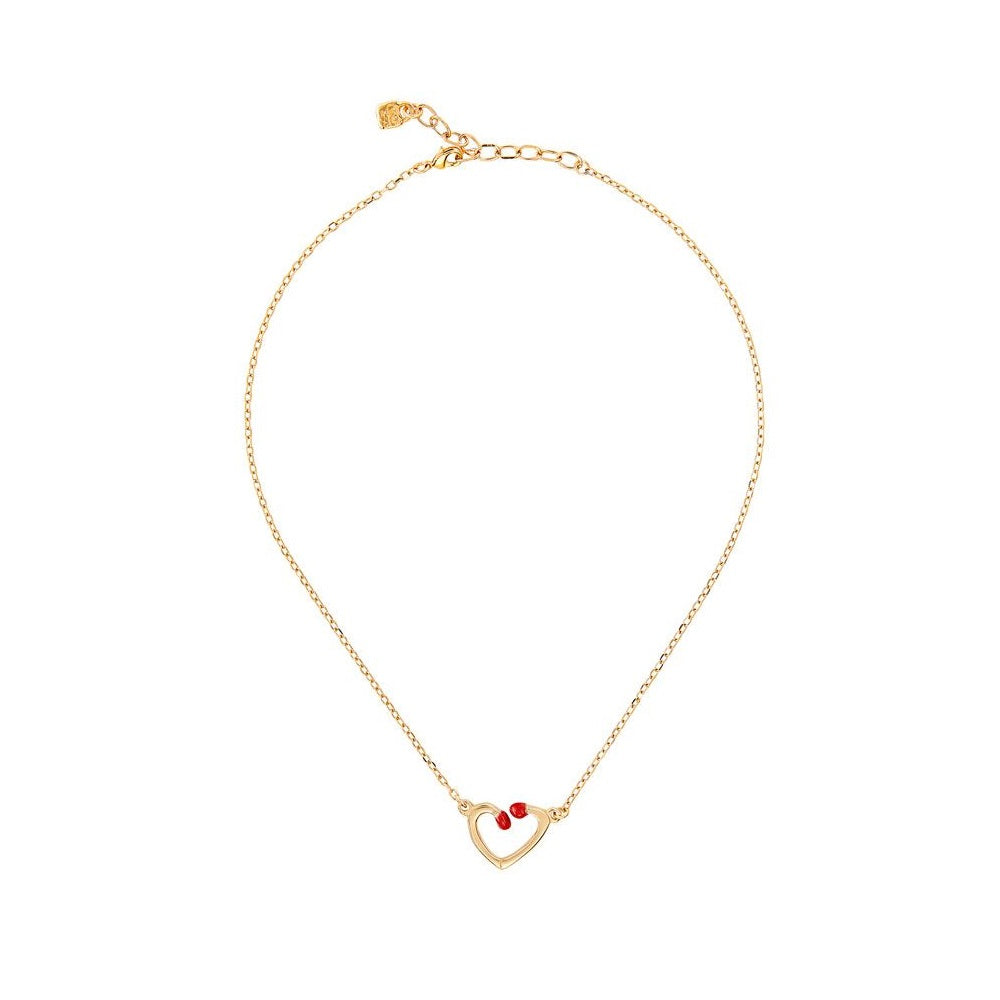 UNOde50 Necklace Gold plated and Enamel 'A perfect match'