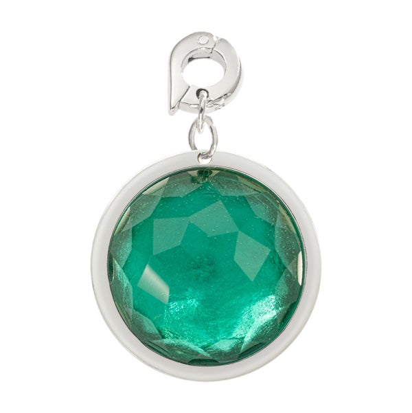 Nikki Lissoni Faceted Greenish Blue Optical Glass Charm