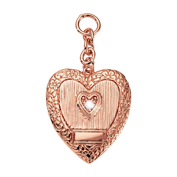 Nikki Lissoni Rose Gold Plated Vintage Heart Charm