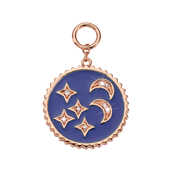 Nikki Lissoni Rose Gold Blue Night Charm