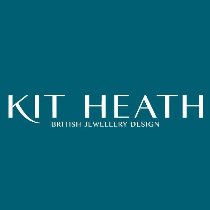 Kit Heath Silver Empire Deco Hexagonal Hoop Drop Earrings