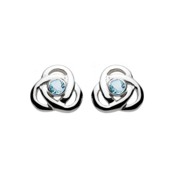 Kit Heath Silver and Blue Topaz Oona Knot Stud Earrings