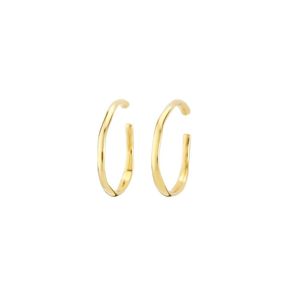 UNOde50 Earrings Gold plated 'Ohmmm'