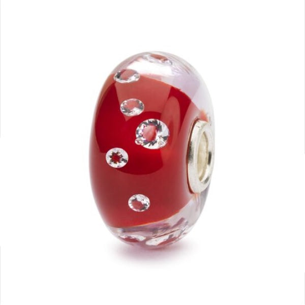 Trollbeads Charm Glass Diamond Scarlet