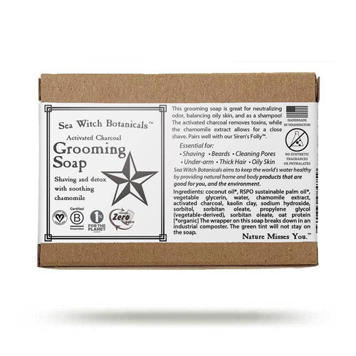 Sea Witch Botanicals - Grooming Soap - with activated charcoal