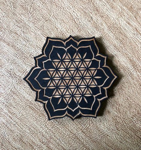Zen and Meow - Flower of Life Lotus Magnet