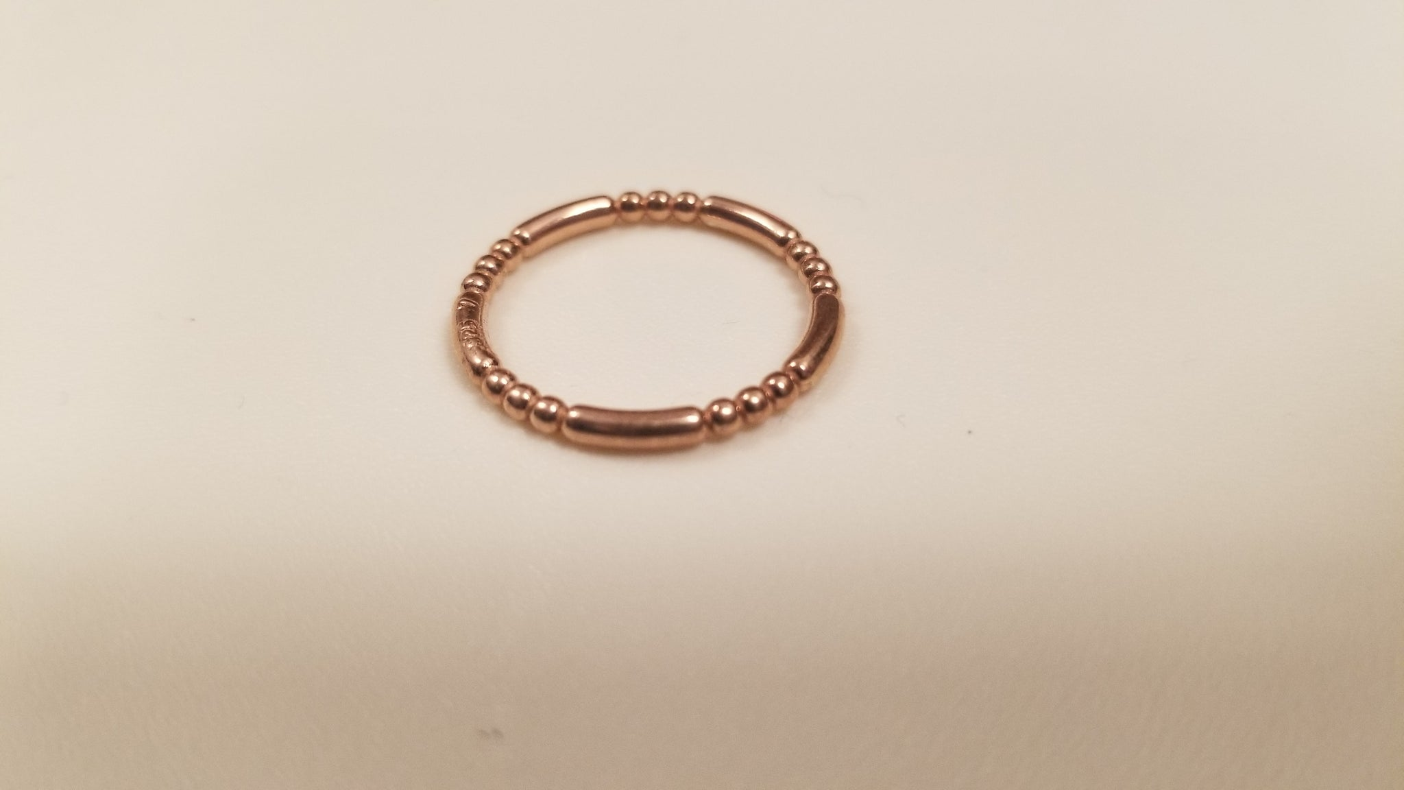 14 gf Rose Gold Bead Style Stackable Ring
