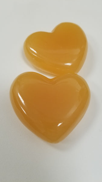 Orange Calcite 2 inch Heart