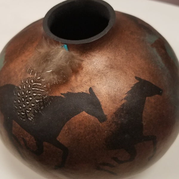 Horse Spirit Animal Gourd one of a kind