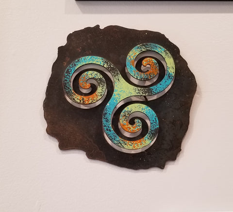 Handmade triquetra metal wall Hanging