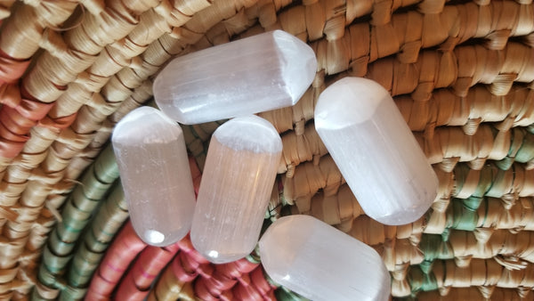 Selenite Bullet Pocket Stone