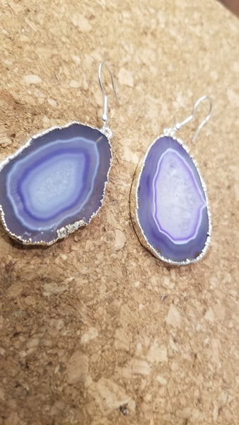 Agate Slice Earrings