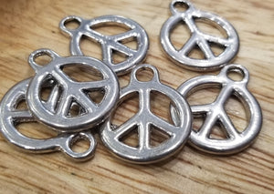 Peace Sign Pendant Drop