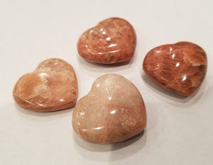 Peach Moonstone Hearts