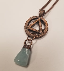 The Sobriety Circle & Triangle Symbol Pendant\