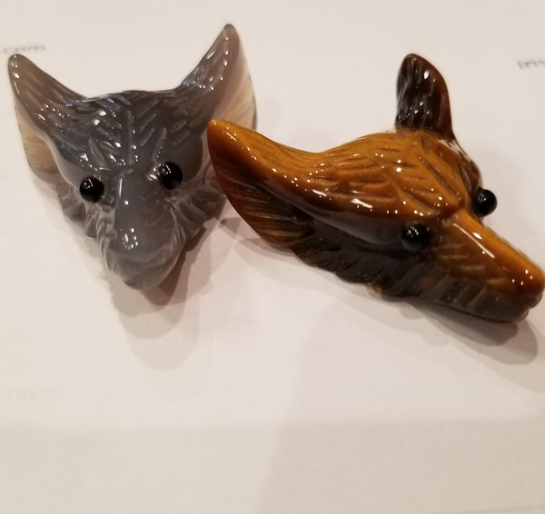 Wolf head Carving 2-Inch